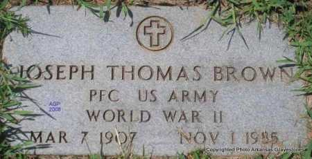 BROWN  (VETERAN WWII), JOSEPH THOMAS - Scott County, Arkansas | JOSEPH THOMAS BROWN  (VETERAN WWII) - Arkansas Gravestone Photos
