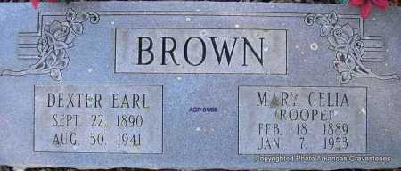 ROOPE BROWN, MARY CELIA - Scott County, Arkansas | MARY CELIA ROOPE BROWN - Arkansas Gravestone Photos
