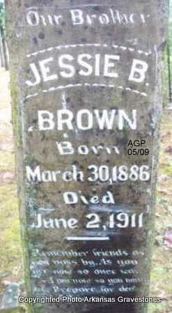 BROWN, JESSIE B - Scott County, Arkansas | JESSIE B BROWN - Arkansas Gravestone Photos