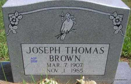 BROWN, JOSEPH THOMAS - Scott County, Arkansas | JOSEPH THOMAS BROWN - Arkansas Gravestone Photos