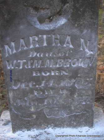 BROWN, MARTHA N - Scott County, Arkansas | MARTHA N BROWN - Arkansas Gravestone Photos
