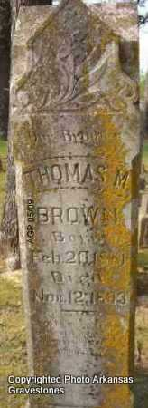 BROWN, THOMAS M - Scott County, Arkansas | THOMAS M BROWN - Arkansas Gravestone Photos