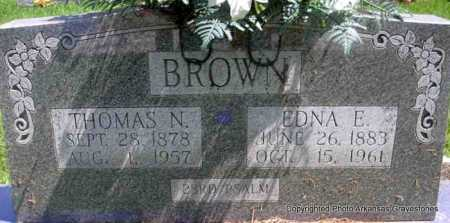 BROWN, EDNA E - Scott County, Arkansas | EDNA E BROWN - Arkansas Gravestone Photos