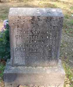 BROWN, ZOLA - Scott County, Arkansas | ZOLA BROWN - Arkansas Gravestone Photos