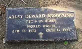 BROWNING  (VETERAN WWII), ARLEY DEWARD - Scott County, Arkansas | ARLEY DEWARD BROWNING  (VETERAN WWII) - Arkansas Gravestone Photos