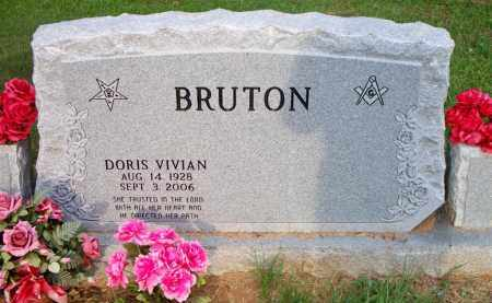 BRUTON, DORIS VIVIAN - Scott County, Arkansas | DORIS VIVIAN BRUTON - Arkansas Gravestone Photos
