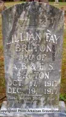 BRUTON, LILLIAN FAY - Scott County, Arkansas | LILLIAN FAY BRUTON - Arkansas Gravestone Photos
