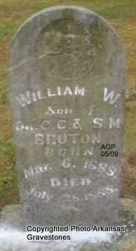 BRUTON, WILLIAM W - Scott County, Arkansas | WILLIAM W BRUTON - Arkansas Gravestone Photos