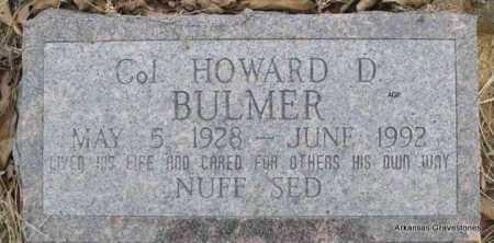 BULMER, HOWARD D, COL - Scott County, Arkansas | HOWARD D, COL BULMER - Arkansas Gravestone Photos