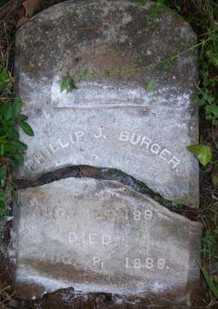 BURGER, PHILLIP J - Scott County, Arkansas | PHILLIP J BURGER - Arkansas Gravestone Photos