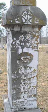 BURNETT, GRAPHEN H   (2ND STONE) - Scott County, Arkansas | GRAPHEN H   (2ND STONE) BURNETT - Arkansas Gravestone Photos