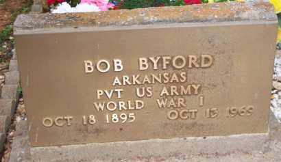 BYFORD  (VETERAN WWI), BOB - Scott County, Arkansas | BOB BYFORD  (VETERAN WWI) - Arkansas Gravestone Photos