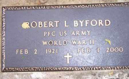 BYFORD  (VETERAN WWII), ROBERT L - Scott County, Arkansas | ROBERT L BYFORD  (VETERAN WWII) - Arkansas Gravestone Photos