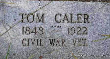 CALER (VETERAN CSA), TOM - Scott County, Arkansas | TOM CALER (VETERAN CSA) - Arkansas Gravestone Photos