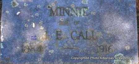CALL, MINNIE - Scott County, Arkansas | MINNIE CALL - Arkansas Gravestone Photos