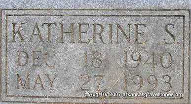 CARROLL, KATHERINE SUE  (CLOSEUP) - Scott County, Arkansas | KATHERINE SUE  (CLOSEUP) CARROLL - Arkansas Gravestone Photos