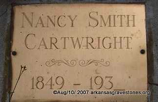 SMITH CARTWRIGHT, NANCY - Scott County, Arkansas | NANCY SMITH CARTWRIGHT - Arkansas Gravestone Photos