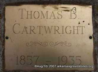 CARTWRIGHT, THOMAS B - Scott County, Arkansas | THOMAS B CARTWRIGHT - Arkansas Gravestone Photos