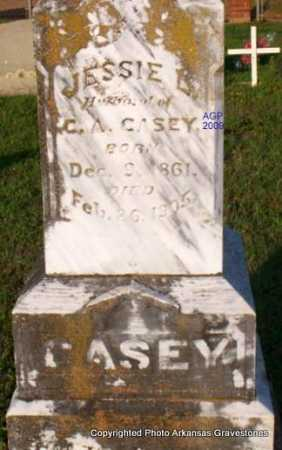 CASEY, JESSIE L  (CLOSE UP) - Scott County, Arkansas | JESSIE L  (CLOSE UP) CASEY - Arkansas Gravestone Photos