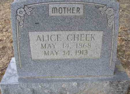 CHEEK, ALICE E - Scott County, Arkansas | ALICE E CHEEK - Arkansas Gravestone Photos