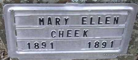 CHEEK, MARY ELLEN - Scott County, Arkansas | MARY ELLEN CHEEK - Arkansas Gravestone Photos