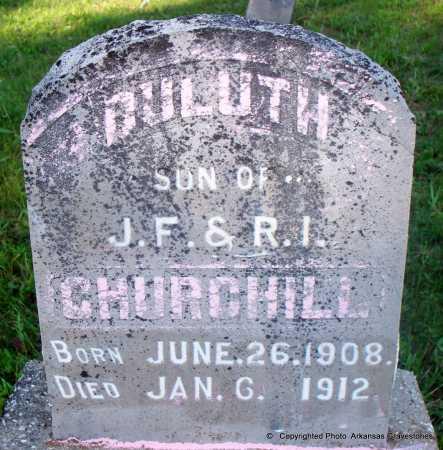 CHURCHILL, DULUTH - Scott County, Arkansas | DULUTH CHURCHILL - Arkansas Gravestone Photos