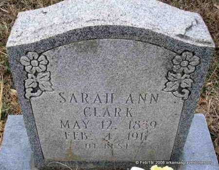 CLARK, SARAH ANN - Scott County, Arkansas | SARAH ANN CLARK - Arkansas Gravestone Photos