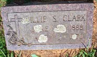 CLARK, WILLIE S - Scott County, Arkansas | WILLIE S CLARK - Arkansas Gravestone Photos