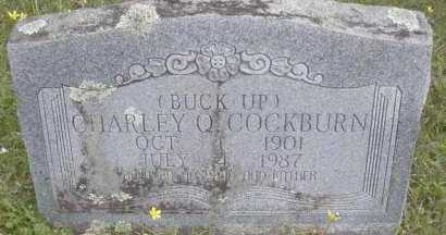 COCKBURN, CHARLEY  (BUCK UP) - Scott County, Arkansas | CHARLEY  (BUCK UP) COCKBURN - Arkansas Gravestone Photos