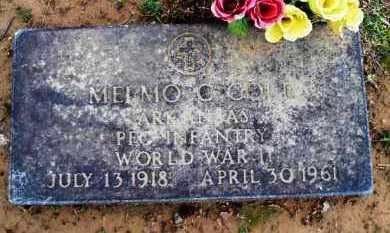 COLE  (VETERAN WWII), MELMO C - Scott County, Arkansas | MELMO C COLE  (VETERAN WWII) - Arkansas Gravestone Photos