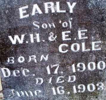 COLE, EARLY - Scott County, Arkansas | EARLY COLE - Arkansas Gravestone Photos