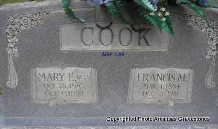 COOK, FRANCIS M - Scott County, Arkansas | FRANCIS M COOK - Arkansas Gravestone Photos