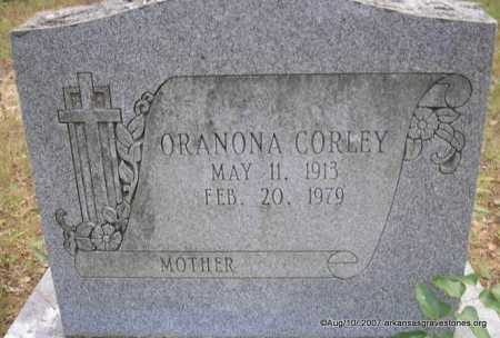 CORLEY, ORANONA - Scott County, Arkansas | ORANONA CORLEY - Arkansas Gravestone Photos