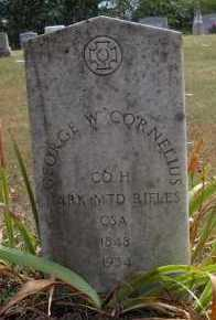 CORNELIUS  (VETERAN CSA), GEORGE W - Scott County, Arkansas | GEORGE W CORNELIUS  (VETERAN CSA) - Arkansas Gravestone Photos