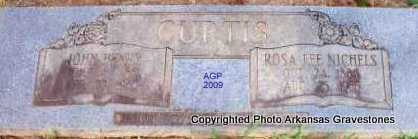 NICHELS CURTIS, ROSA LEE - Scott County, Arkansas | ROSA LEE NICHELS CURTIS - Arkansas Gravestone Photos