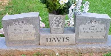 DAVIS  (2ND STONE), BILLY JOE - Scott County, Arkansas | BILLY JOE DAVIS  (2ND STONE) - Arkansas Gravestone Photos