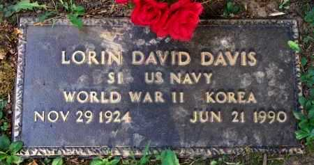 DAVIS  (VETERAN 2 WARS), LORIN DAVID - Scott County, Arkansas | LORIN DAVID DAVIS  (VETERAN 2 WARS) - Arkansas Gravestone Photos