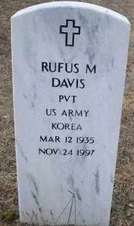 DAVIS  (VETERAN KOR), RUFUS M - Scott County, Arkansas | RUFUS M DAVIS  (VETERAN KOR) - Arkansas Gravestone Photos