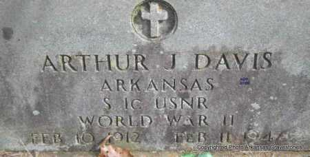 DAVIS  (VETERAN WWII), ARTHUR J - Scott County, Arkansas | ARTHUR J DAVIS  (VETERAN WWII) - Arkansas Gravestone Photos