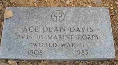 DAVIS  (VETERAN WWII), ACE DEAN - Scott County, Arkansas | ACE DEAN DAVIS  (VETERAN WWII) - Arkansas Gravestone Photos