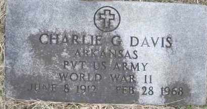 DAVIS  (VETERAN WWII), CHARLIE G - Scott County, Arkansas | CHARLIE G DAVIS  (VETERAN WWII) - Arkansas Gravestone Photos