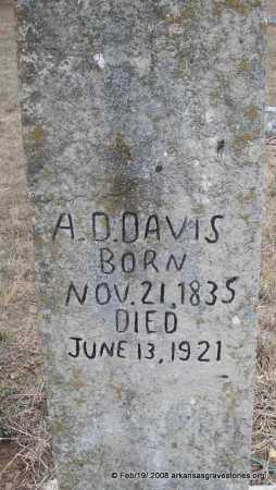 DAVIS, ACIE D   (2ND STONE) - Scott County, Arkansas | ACIE D   (2ND STONE) DAVIS - Arkansas Gravestone Photos