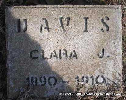 DAVIS, CLARA J - Scott County, Arkansas | CLARA J DAVIS - Arkansas Gravestone Photos