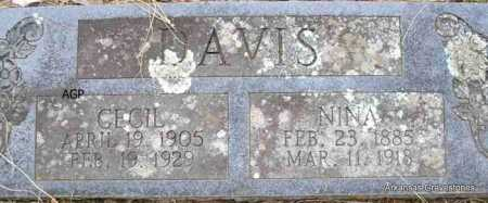 DAVIS, NINA - Scott County, Arkansas | NINA DAVIS - Arkansas Gravestone Photos