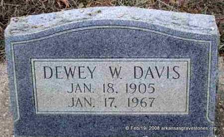 DAVIS, DEWEY W - Scott County, Arkansas | DEWEY W DAVIS - Arkansas Gravestone Photos