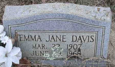 DAVIS, EMMA JANE - Scott County, Arkansas | EMMA JANE DAVIS - Arkansas Gravestone Photos
