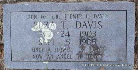 DAVIS, ELZA T - Scott County, Arkansas | ELZA T DAVIS - Arkansas Gravestone Photos