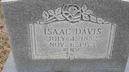 DAVIS, ISAAC - Scott County, Arkansas | ISAAC DAVIS - Arkansas Gravestone Photos
