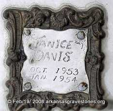 DAVIS, JANICE - Scott County, Arkansas | JANICE DAVIS - Arkansas Gravestone Photos