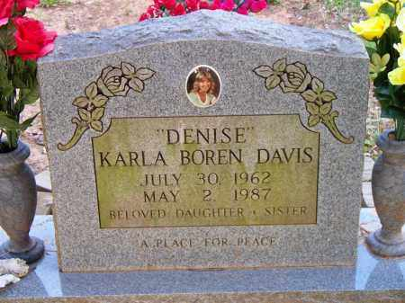 "BOREN DAVIS, KARLA  ""DENISE"" - Scott County, Arkansas 